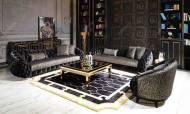 Gucci Black Gold Koltuk Takımı - Thumbnail