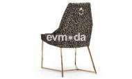 Gucci Black Gold Sandalye - Thumbnail