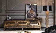 Gucci Black Gold Yemek Odası Takımı - Thumbnail