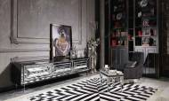 Gucci Black Silver Tv Ünitesi - Thumbnail
