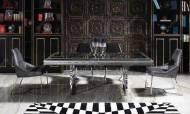 Gucci Black Silver Yemek Odası Takımı - Thumbnail