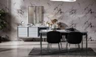 Lion Krom Modern Yemek Odası Takımı - Thumbnail