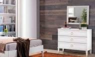 Melis Beyaz Modern Yatak Odası Takımı - Thumbnail