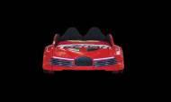 Moon Full Kırmızı Araba Karyola - Thumbnail