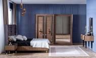 Paris Ceviz Art Deco Yatak Odası Takımı - Thumbnail