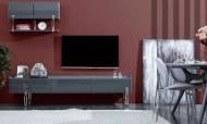 Plain Natural Modern Tv Ünitesi - Thumbnail