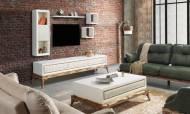 Quatro Beyaz Modern Tv Ünitesi - Thumbnail