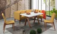 Rio Sarı Mutfak Masası Takımı - Thumbnail