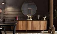 Sandra Ceviz Bronz Modern Yemek Odası Takımı - Thumbnail