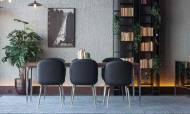 Silver Modern Yemek Odası Takımı - Thumbnail
