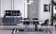 Titanyum Modern Yemek Odası Takımı - Thumbnail