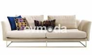 Versace Beyaz Üçlü Koltuk - Thumbnail