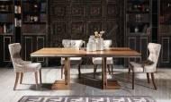 Versace Ceviz Yemek Odası Takımı - Thumbnail