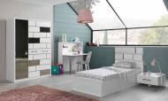 Wall Beyaz Modern Genç Odası Takımı - Thumbnail