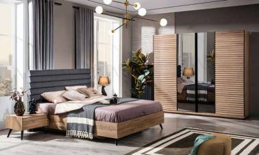 Evmoda Mobilya - Venedik Modern Yatak Odası Takımı