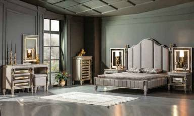 Evmoda Mobilya - Estonya Art Deco Yatak Odası Takımı