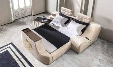 Evmoda Mobilya - Versace Gold Tv Mekanizmalı + Masajlı Karyola