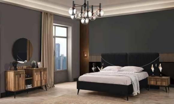 Evmoda Mobilya - Alaska Ceviz Modern Yatak Odası Takımı (1)