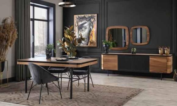 Evmoda Mobilya - Alf Modern Yemek Odası Takımı