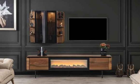 Evmoda Mobilya - Alf Şömineli Modern Tv Ünitesi