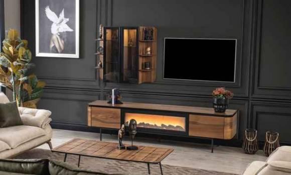 Evmoda Mobilya - Alf Şömineli Modern Tv Ünitesi (1)