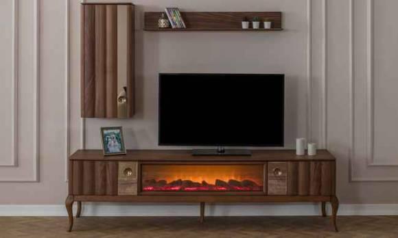 Evmoda - Alina Modern Şömineli Tv Ünitesi (1)