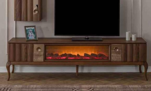 Evmoda Mobilya - Alina Şömineli Tv Sehpası