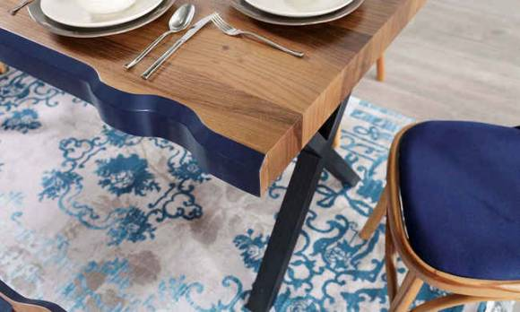 Evmoda Mobilya - Antik Ceviz Mutfak Masası Takımı (1)