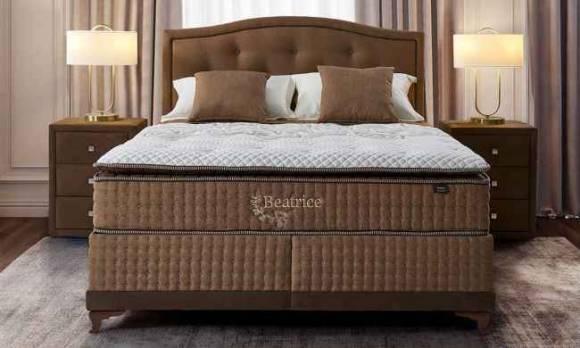 Evmoda Mobilya - Beatrice Linen Baza Yatak Başlık Seti
