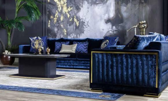 Evmoda Mobilya - Bella Gold Art Deco Koltuk Takımı (1)