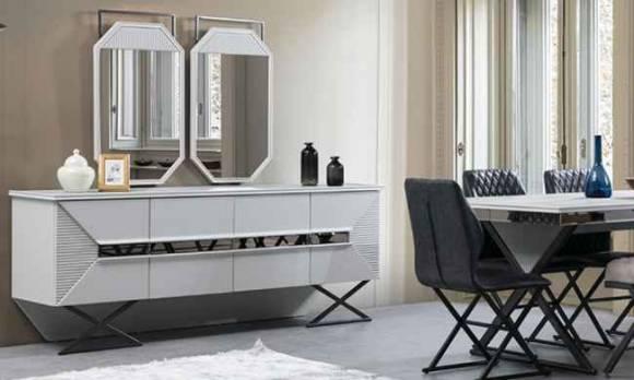 Evmoda Mobilya - Bergamo Konsol Ve Aynası
