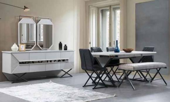 Evmoda - Bergamo Modern Yemek Odası Takımı
