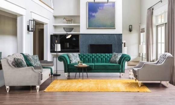 Evmoda Mobilya - Bianco Art Deco Koltuk Takımı