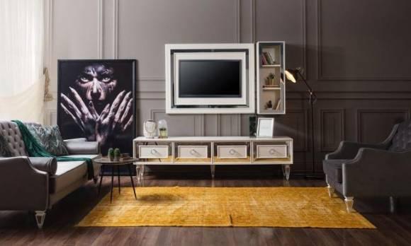 Evmoda Mobilya - Bianco Art Deco Tv Ünitesi