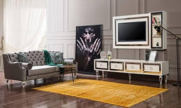 Evmoda Mobilya - Bianco Art Deco Tv Ünitesi (1)