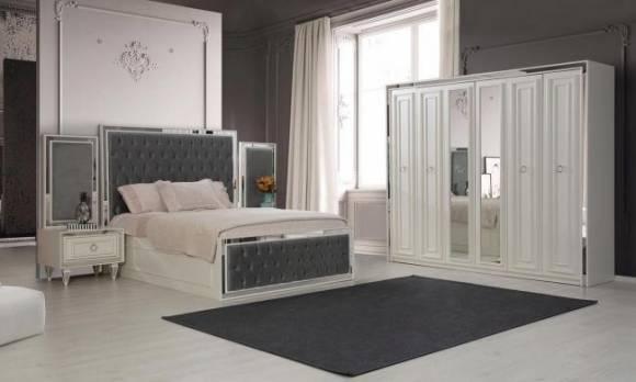 Evmoda Mobilya - Bianco Art Deco Yatak Odası Takımı