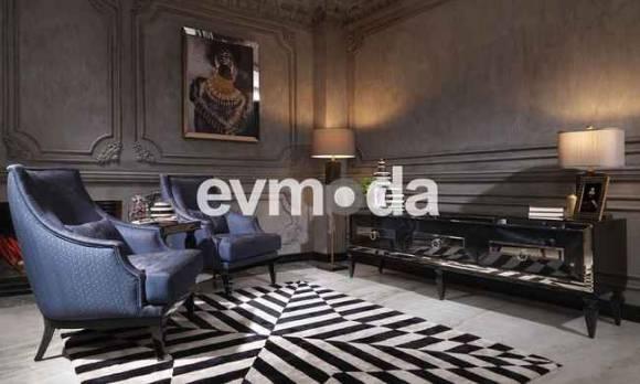 Evmoda Mobilya - Bugatti Siyah Art Deco Tv Ünitesi (1)