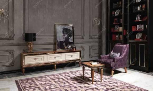 Evmoda Mobilya - Carmen Ceviz Art Deco Tv Ünitesi