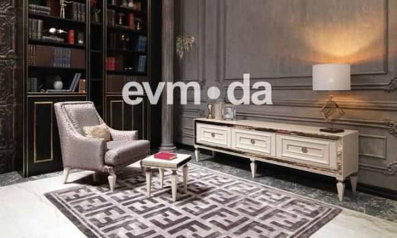 Evmoda Mobilya - Carmen Krem Art Deco Tv Ünitesi