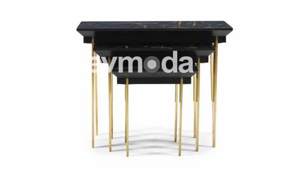 Evmoda Mobilya - Cavalli Black Zigon Sehpa