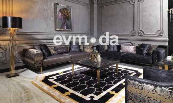 Evmoda Mobilya - Cavalli Siyah Koltuk Takımı (1)
