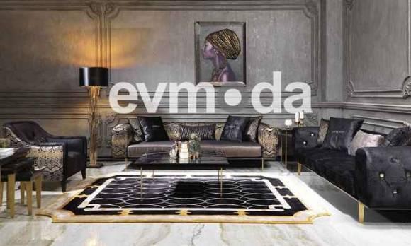 Evmoda Mobilya - Cavalli Siyah Koltuk Takımı
