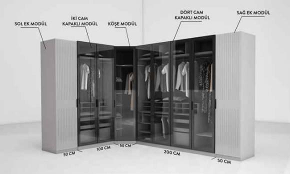 Evmoda Mobilya - Defne Modern Giyinme Odası