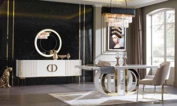 Evmoda Mobilya - Dior Modern Yemek Odası Takımı (1)
