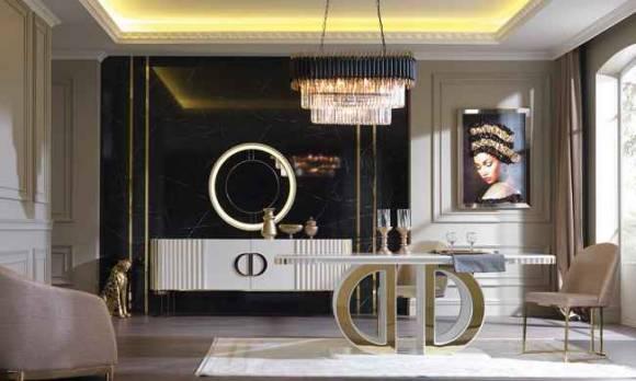 Evmoda Mobilya - Dior Modern Yemek Odası Takımı