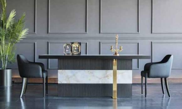 Evmoda Mobilya - Elegante Modern Yemek Odası Takımı (1)