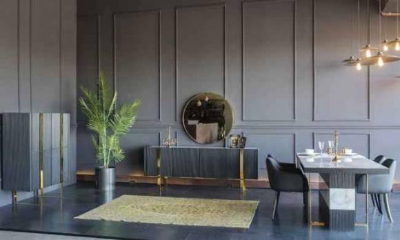 Evmoda Mobilya - Elegante Modern Yemek Odası Takımı