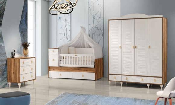 Evmoda Mobilya - Elsa Mega Bebek Odası Takımı