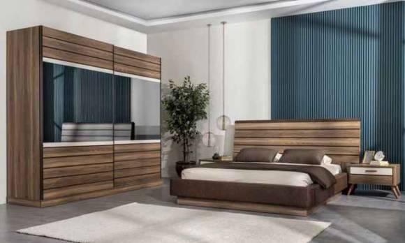 Evmoda Mobilya - Eti Ceviz Modern Yatak Odası Takımı (1)