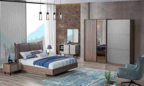 Evmoda Mobilya - Flat Modern Yatak Odası Takımı